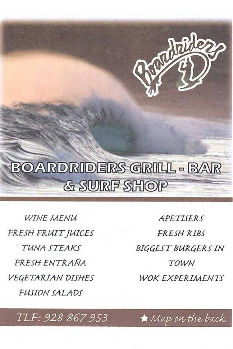 Restaurants Corralejo: Grill, Fusion & Surf Bar - Boardriders - Fuerteventura.