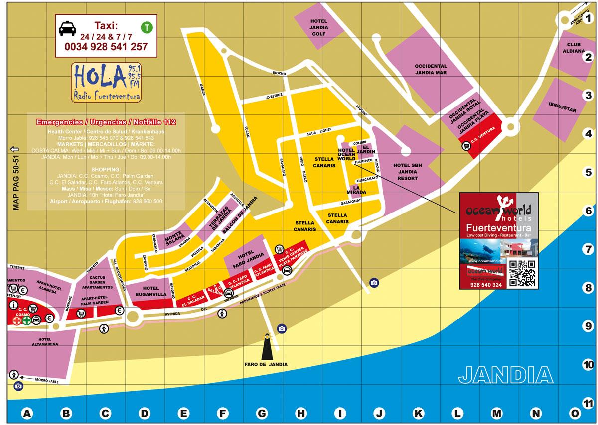 JANDIA MAP web